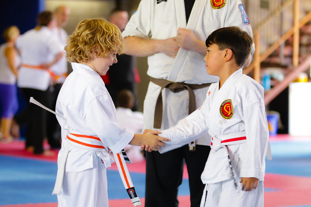 Jujitsu Kids shaking hands