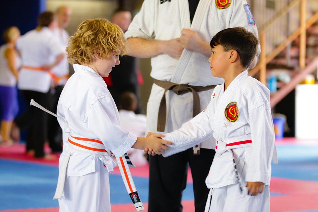 Jujitsu Kids shaking hands